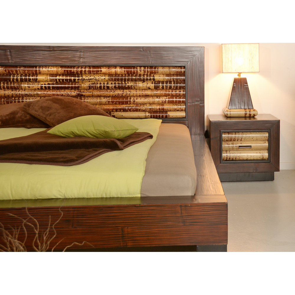 in bed stock bamboo bedroom house photo a
