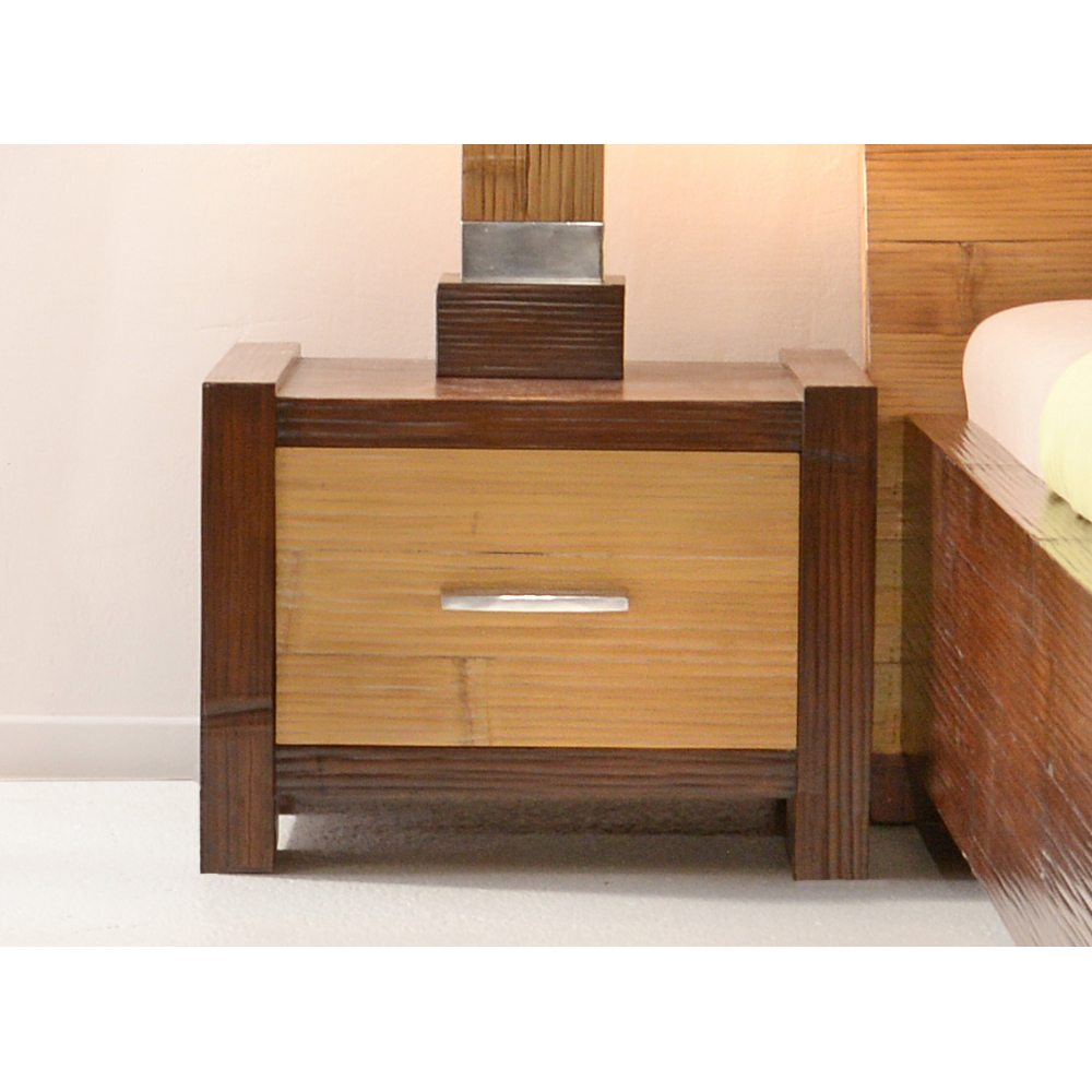 Bedside table luzon with 1 drawer bambuskeskus o for 1 drawer bedside table
