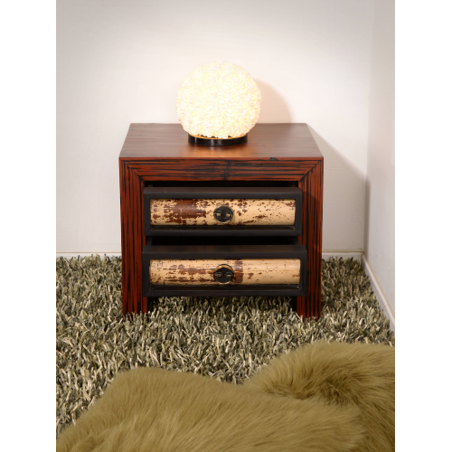 Bedside table Eco with 2 drawers