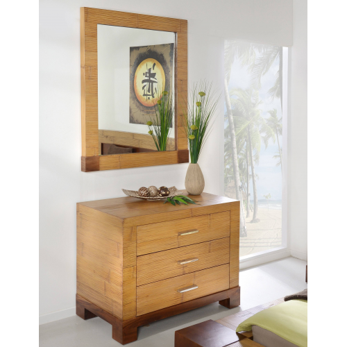 Commode Tawau with 3 drawers