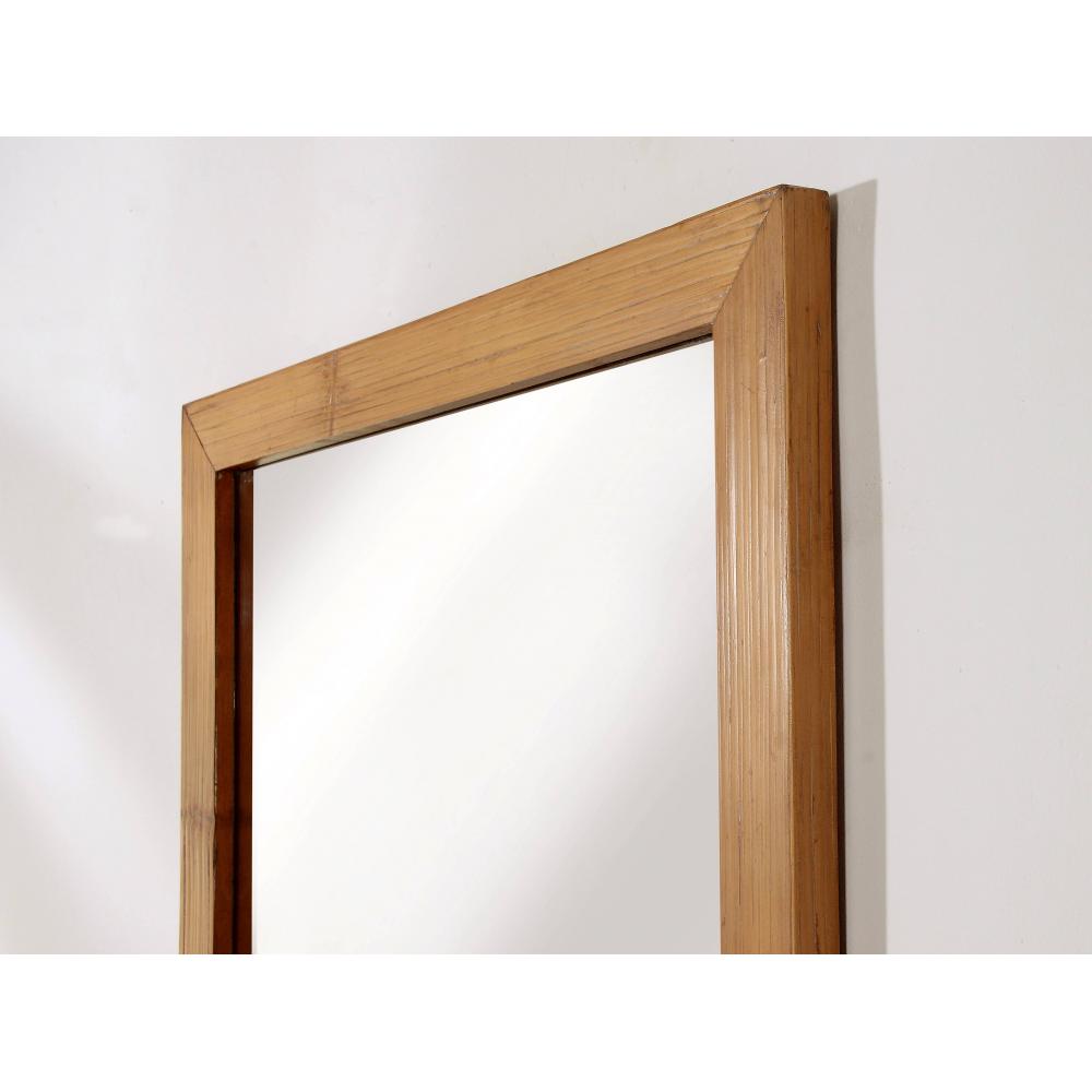Bamboo Mirror on Vintage Ficks Reed Rattan Furniture