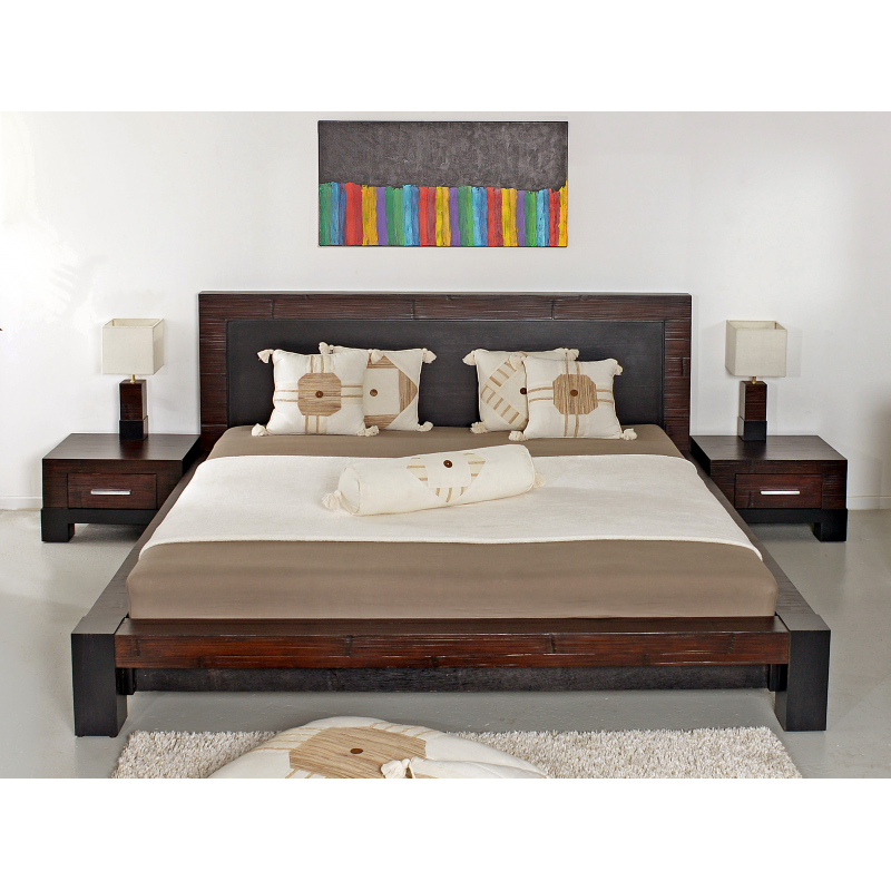 Bamboo bed softside waterbed and bamboobed bamboo king for Canape 180x200