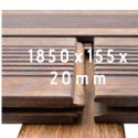Terrassilaud Bamboo X-treme 1850x155x20