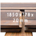 Bamboo X-treme Decking 1850x178x20